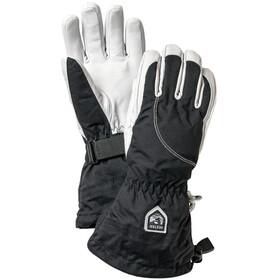 Hestra Heli Ski Gants 5 doigts Femme, black/offwhite